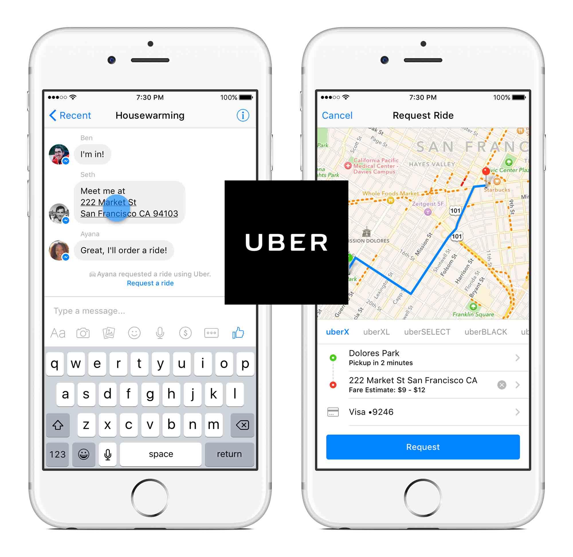 messenger 2018 uber